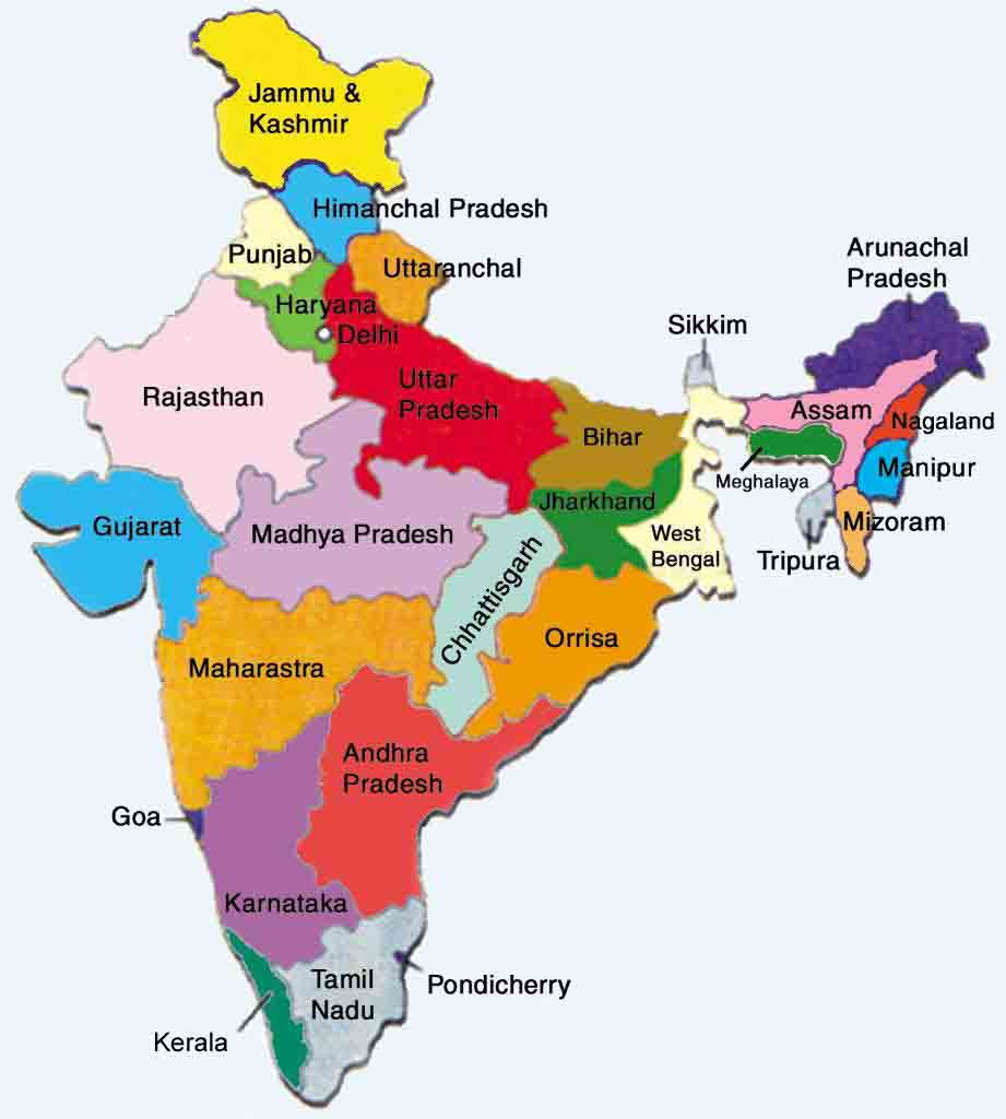 . maps of protected areas in india